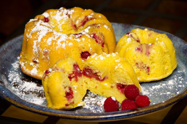 Raspberry lemonade bundt cake from thePenandthePan